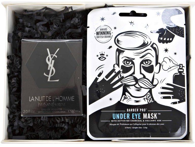 ysl fragrance, barber pro face mask