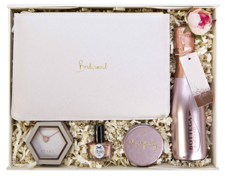 Inside will you be my bridesmaid gift box